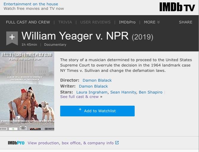 william yeager v
