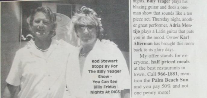 Billy Yeager Rod Stewart